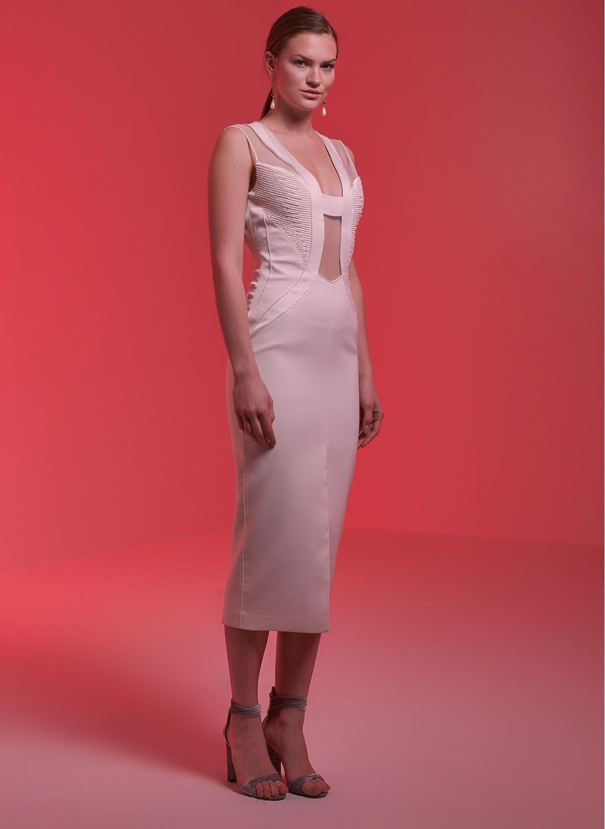 f1e02d1d33b1e Museum Of Fine Clothing Kadın Abiye Elbise Ekru(İşlemeli) | Morhipo ...